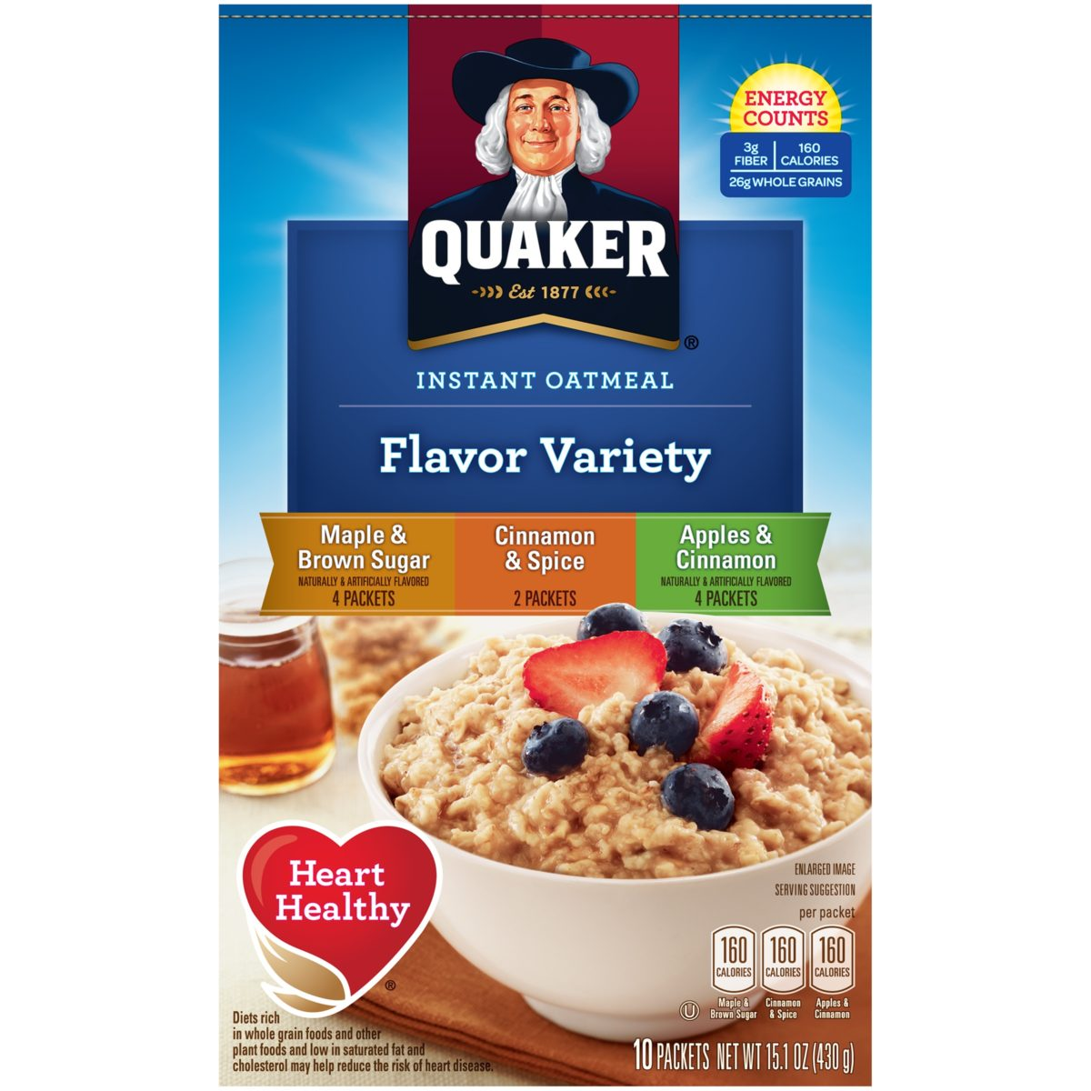 quaker oats sweepstakes 2019 quaker variety pack oatmeal 15 oz mountain merchant 1767